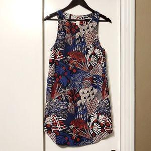 Japanese Asian Patterned Shift Tank Dress